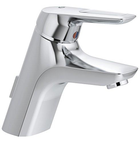Preisvergleich Produktbild Ideal Standard A5646AA Einhebel-Waschtischarmatur-Armatur Ceramix Blue mit Zugknopf-Ablaufgarnitur, chrom