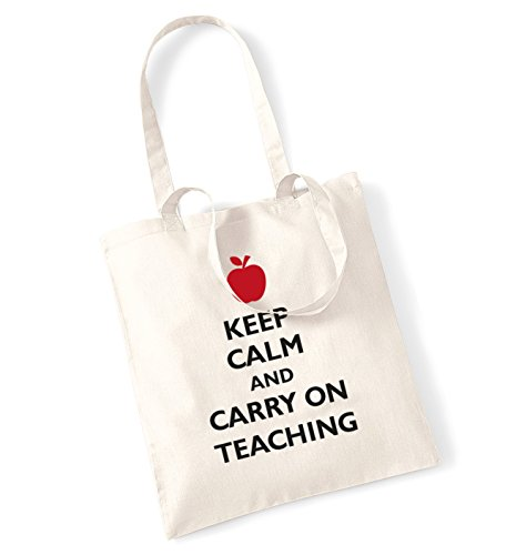 Keep calm and carry on insegnamento tote bag Natural