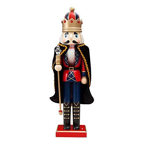 wuyanes 38cm Handbemalter Holz Nussknacker Figur Weihnachtsverzierung Haus Deko