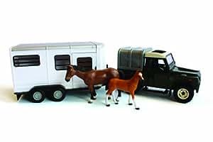 Britains Big FarmLand Rover and Horse Trailer Set