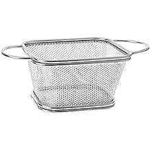 Bhty235, cesta freidora profunda de acero inoxidable francés freidora cesta de malla cocina patatas fritas
