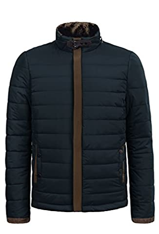 ZSHOW Doudoune avec Fourrure Manteau Parka Veste Chaud D'hiver - Homme (Bleu Marine,XL )