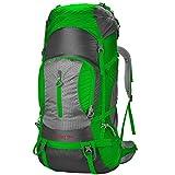 Sac à Dos de Sport de Voyage en Plein air Sac à Dos imperméable pour Alpinisme, Sac à Dos de Trekking pour Hommes, Femmes FENGMING (Couleur : Green, Taille : 75L+5L)