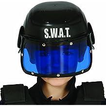Gorro policía infantil Casco SWAT niño Protección cabeza unidad especial Accesorio agente de la ley Gorra S.W.A.T. Complemento fuerzas del orden