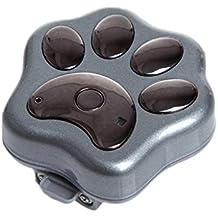 MagiDeal Rf-v30 GPS de Mascotas Impermeable Wifi Perseguidor de Perros de Gatos Collar de Localizador 3 Colores - Negro