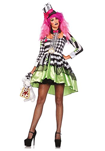 Leg Avenue 85459 - Deliriously Mad Hatter Kostüm, Größe Medium (EUR (Wonderland Alice Erwachsene Für In Perücke)