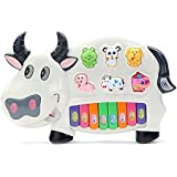 TFPS Funny Musical Cow Piano/Keyboard Musical Toys (Cow)