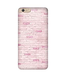 Pink Bricks Printed Back Cover Case For Micromax Canvas Knight 2 E471