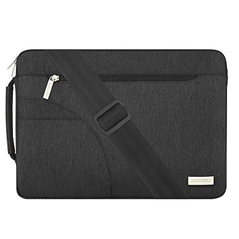 MOSISO Ordinateur Portable Sac Manchon Couverture, Serviette Polyester Transporter Sac à Main pour 13-13,3 Pouces MacBook Air, MacBook Pro, Ordinateur Portable, Noir