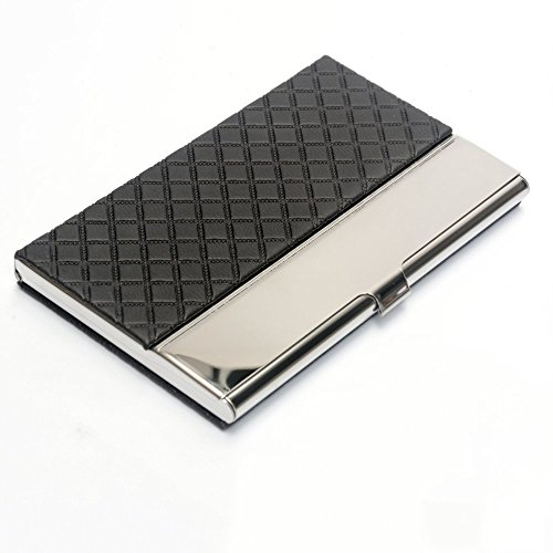Pocket business card case stainless steel leather embossed credit id pocket business card case stainless steel leather embossed credit id card holder colourmoves