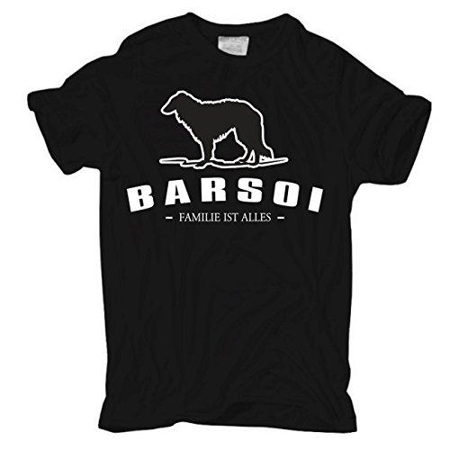 Spaß kostet Männer und Herren T-Shirt Barsoi - Familie ist Alles Schwarz