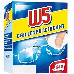 W5 Brillenputztücher, 54 Tücher pro Packung