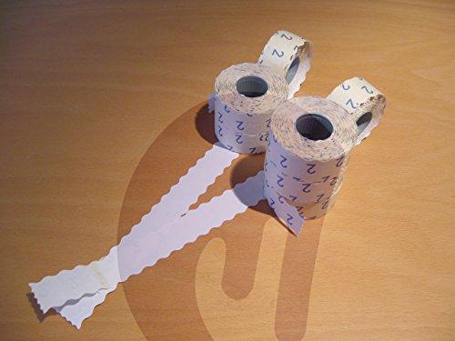 15000 Preisauszeichner Etiketten 26 x 12 mm, weiß, permanent für Meto, Etimark, Contact, Herlitz, Jolly, Blitz