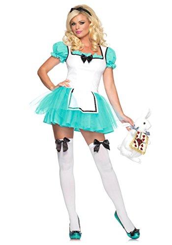 Imagen de disfraz de alicia en el pais de las maravillas turquesa halloween carnaval cosplay mujer talla única 36  40