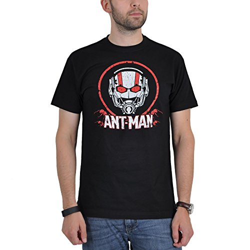 Ant Man T-Shirt Symbol Marvel Superhero Shirt Black Cotton Licensed