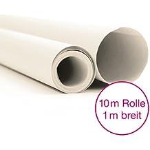 OfficeTree® - Papel de seda, 1 rollo de 10 m, 100 cm de ancho, de corte profesional, más diversión a la hora de crear dibujos y manualidades, para cortes y bocetos en papel, 20 g/m², gran calidad, color blanco-transparente