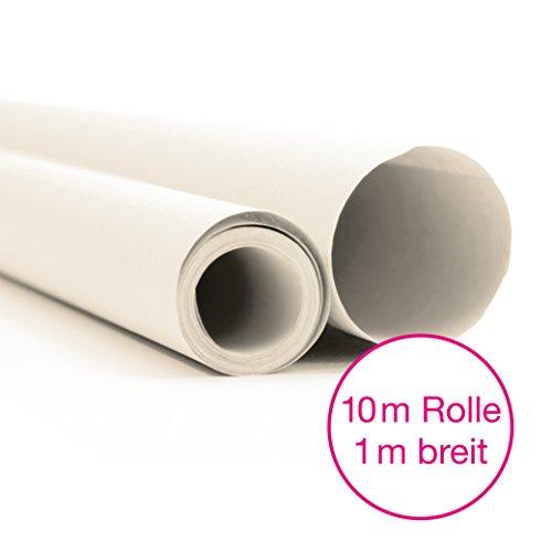 Office Tree Seiden-Papier 10 m Rolle 100 cm Breit - Weiß-Transparent - Zuschneiden Wie Profis - Mehr Spaß am Zeichnen Basteln Gestalten - Zuschnitt- und Skizzen-Papier - Packseide - Premium-Qualität