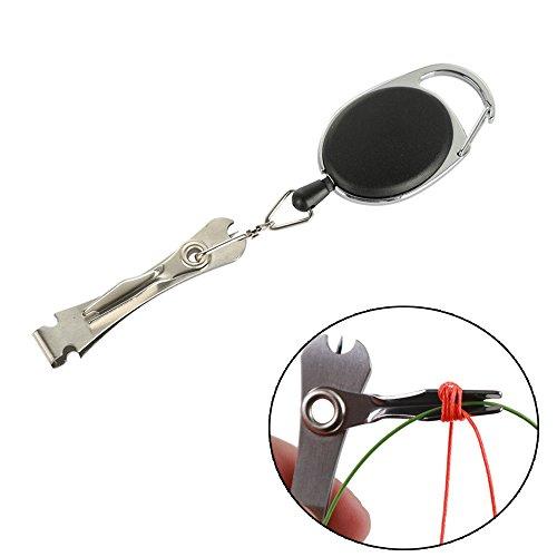 Foviupet Fliegenfischen Knoten-Werkzeug-Set, Retractor Zinger mit Schnurschneider, Schere, Kombi-Knoten-Werkzeug -