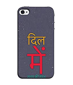 Fuson Designer Back Case Cover for Apple iPhone 4S (Hindi Text Typography Love Pyaar Couple Valentine)