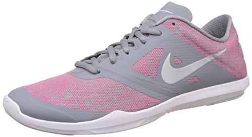 Nike - Studio Trainer 2 Print, Scarpe da ginnastica da donna Grigio/platino metallizzato-rosa-bianco (Stlth/Mtlc Pltnm-Hypr Pnk-Whit)