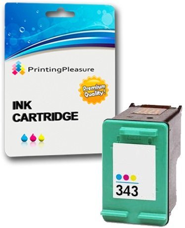 Printing Pleasure Tintenpatrone kompatibel zu HP 343 für Photosmart 2500 2570 2573 2575 C4110 C4180 D5145 D5155 8049 8050 DeskJet D4160 5940 6980 Officejet 6300 6310 6313 6315 - Color, hohe Kapazität