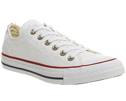 CONVERSE CTAS OX 555882 Unisex - adulto Scarpe sportive Bianco