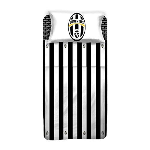 Juventus completo letto, cotone, bianco/nero, 150 x 295 cm/90 x 200 cm/52 x 80 cm
