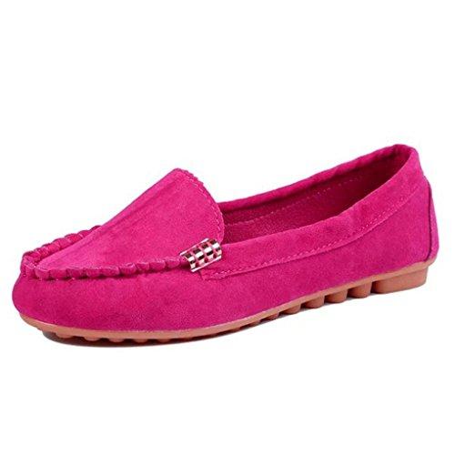 Chaussures, Fulltime® Femmes Chaussures plates prévenir Slip On Comfort Mocassins,Multiple Couleur Rose vif