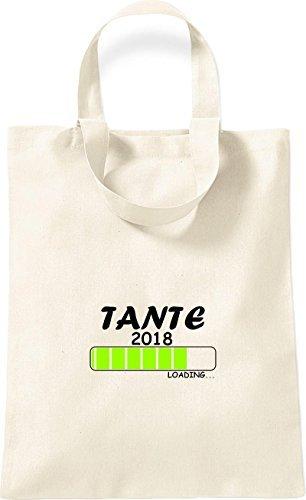 ShirtInStyle kleine Baumwolltasche TANTE 2018 Loading Geburt Geschenk natur