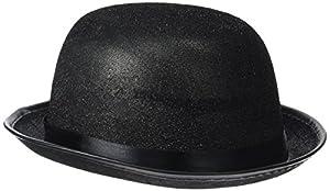 Reír Y Confeti - Fiedis064 - Disfraces de accesorios - Chapeau Melon Glitter Negro
