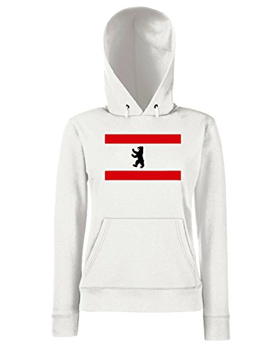 T-Shirtshock - Sweats a capuche Femme TSTEM0008 berlin flag white Blanc