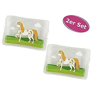 Taschenwärmer Pferd, 2er Set – Wichtelgeschenk, Handwärmer, Taschenheizkissen