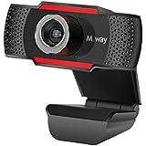 Webcam HD 720p, M.Way USB Cámara Web de Alta Definición con Micrófono Cámara de PC para Skype/MSN/Facebook/Google Hangouts Yahoo! Messenger compatible con Windows 7, Windows 8, Windows 10 Mac OS 10.6