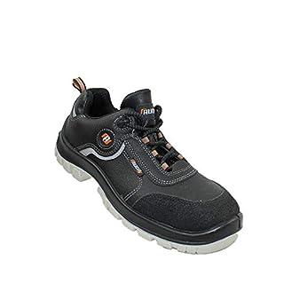 Auda AAU42 S3 SRC Work Shoes Safety Shoes Flat Black B-Stock, Size:47 EU