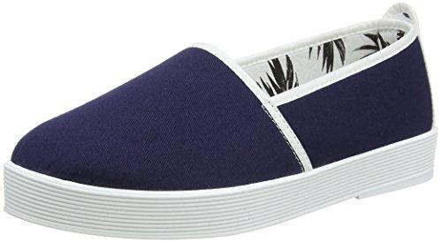 Flossy Cecilia, Sandales Plateforme femme Bleu - Bleu marine/blanc