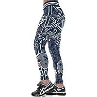 SYPNB Pantalón Deportivo de Gran tamaño para Mujer Cintura Alta Pantalones Yoga Medias impresión Digital 3D,L