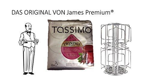 Tassimo Kapselhalter für 64 Kapseln Größter Kapselhalter auf dem Markt geschütztes Design + Tee Waldfrucht
