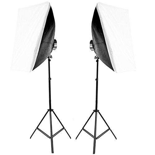 Hakutatz VL-9026S Tageslicht Set Dauerlicht mit Softboxen