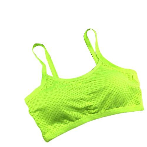 Tonsee Femmes Yoga Fitness Stretch Workout Débardeur Seamless Racerback Soutien-gorge rembourré Sports Vert
