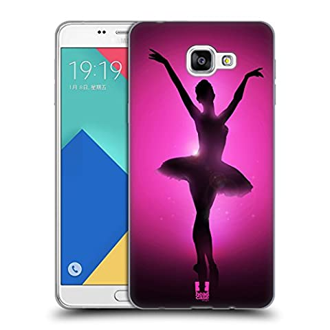 Head Case Designs Graceful Ballerina Silhouette Performers Soft Gel Case for Samsung Galaxy A9 (2016)
