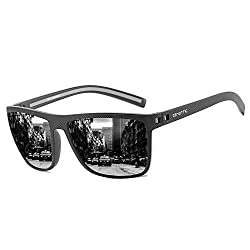 ZENOTTIC Polarisierte Sonnenbrille für Herren mit UV Schutz, Robust leichter Rahmen, zum Autofahren, Radfahren Skifahren, Fischen, Laufen, Wandern, Sport, Party (Schwarz, Schwarz)