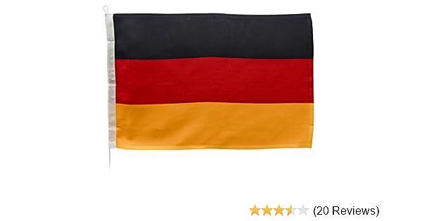 New Marine Deutschlandflagge f/ür Yacht Motorrad Segeln und vieles mehr in 10 verschiedenen Gr/ö/ßen UV-Stabilisiert mit /Öse und B/ändsel