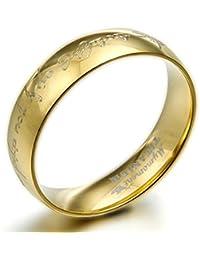 Gemini personalizzata con Dome comfort Fit 18K Gold Filled anniversario nuziale in titanio di San Valentino regalo per uomini