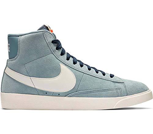 online store b0da5 e5884 Nike W Blazer Mid Vintage Suede Scarpe da Basket Donna, Grigio Bianco Blu
