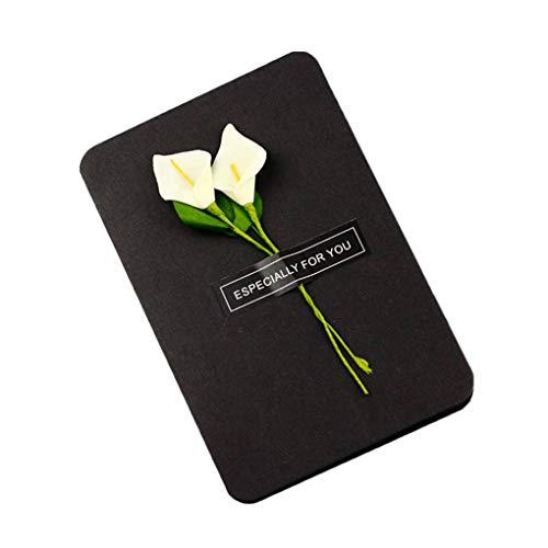 Flower Craft Paper Greeting Card Retro New Year Christmas Valentine's Day Postcard DIY ()