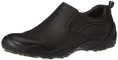 Hush Puppies Men's Stark Black Leather Formal Shoes - 9 UK/India (43 EU)(8546507)