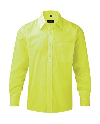 Preisvergleich Produktbild Russell Herren Hemd Polycotton Poplin R-934M-0 Lime 47-48 cm (3XL)