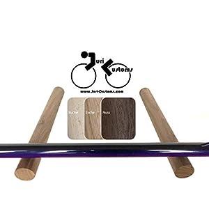 Design Fahrradzubehör | Fahrradhalter Wand | Fahrrad Wandhalterung | Rennrad Halter | BIKE HOOKS | Holz | Rundstäbe…