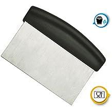 Kerafactum® Teigschaber Teigspachtel zur Teigbearbeitung und als Teigabstecher oder Schlesinger aus Edelstahl 15 cm mit ABS Griff