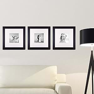 kit cadre photo noir moderne bois massif de cadre avec passe partout et vitre en verre avec. Black Bedroom Furniture Sets. Home Design Ideas